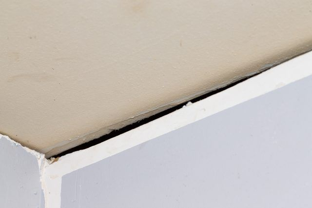 Placing Drywall Often Means Dealing With Walls And Ceilings That Aren T Exactly Plumb In All Areas When The Ceiling Repair Ceilings Cracked Wall Drywall Tape