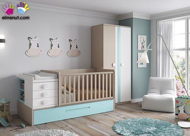 dormitorio infantil con cuna convertible nido cunas