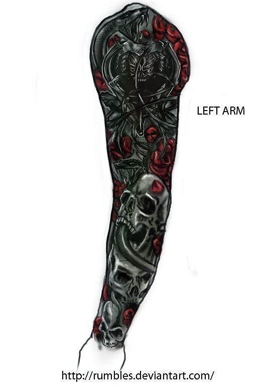 Left Arm Sketch Left Arm Tattoo Design V1 By Left Arm Tattoos