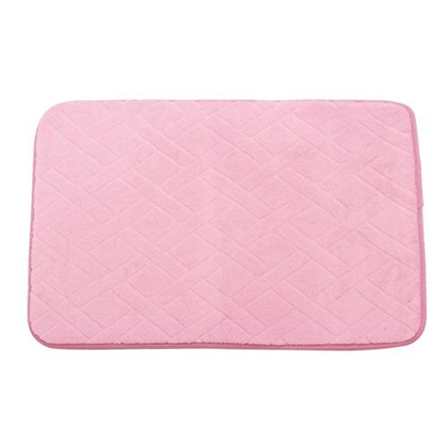 Kingfansion Pebble Memory Foam Nonslip Bath Floor Mats Mat Carpet Rugs Pink *** Click image to review more details. Note:It is Affiliate Link to Amazon.