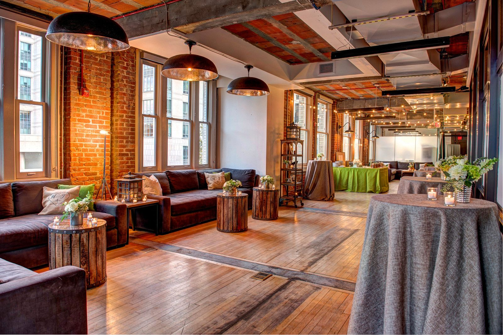 For an intimate wedding, consider The Loft at 600 F's
