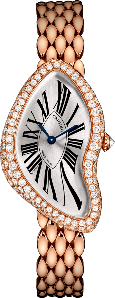 Cartier Crash Watch - 18K pink gold, diamonds