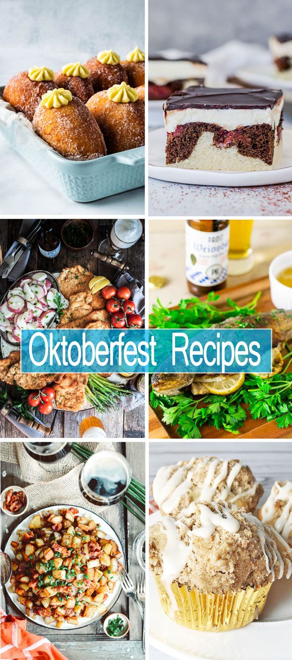 Oktoberfest party food - from appetizers to desserts! #octoberfestfood