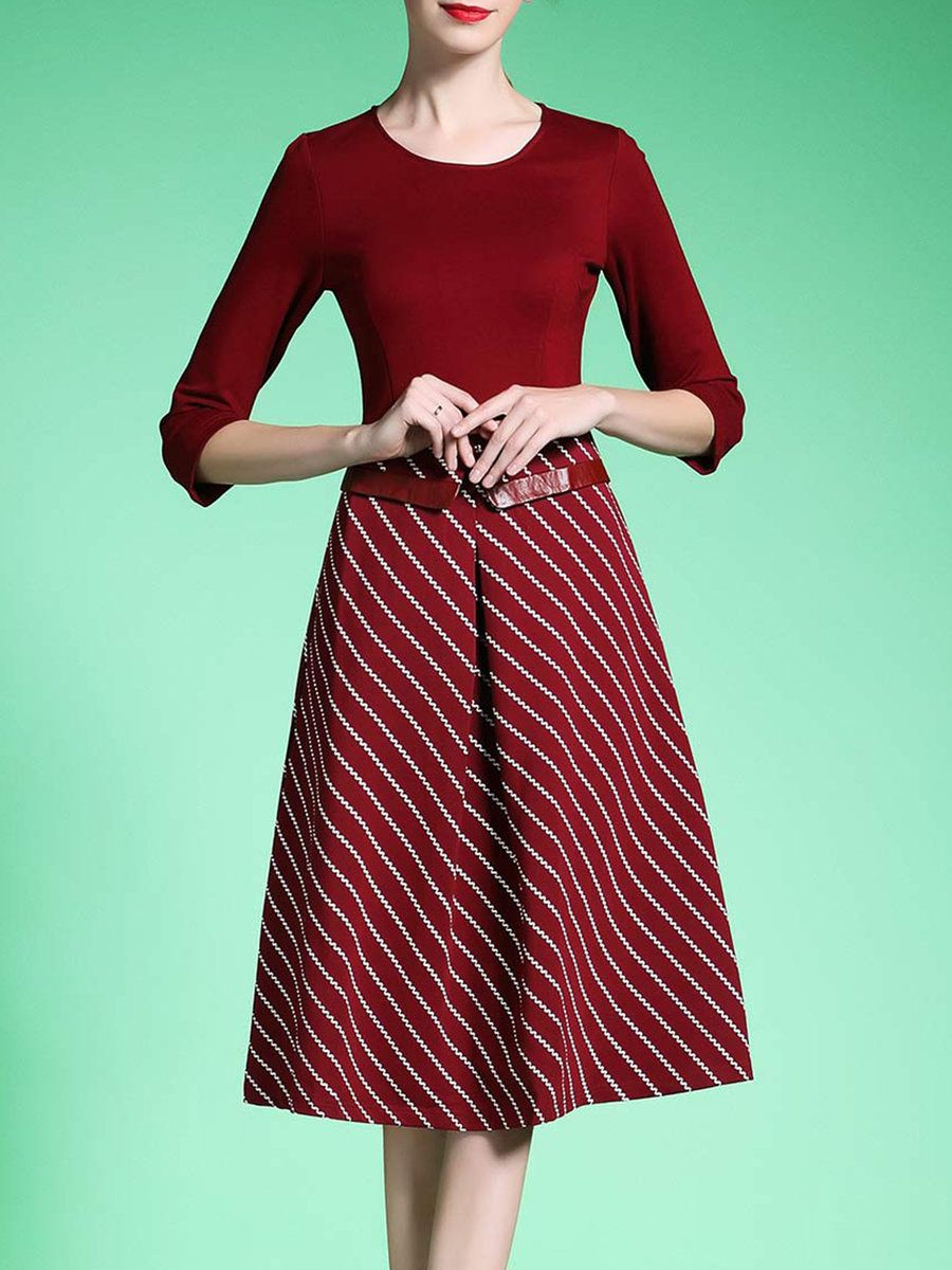 Adorewe stylewe midi dresses onebuye casual sleeve ribbed a