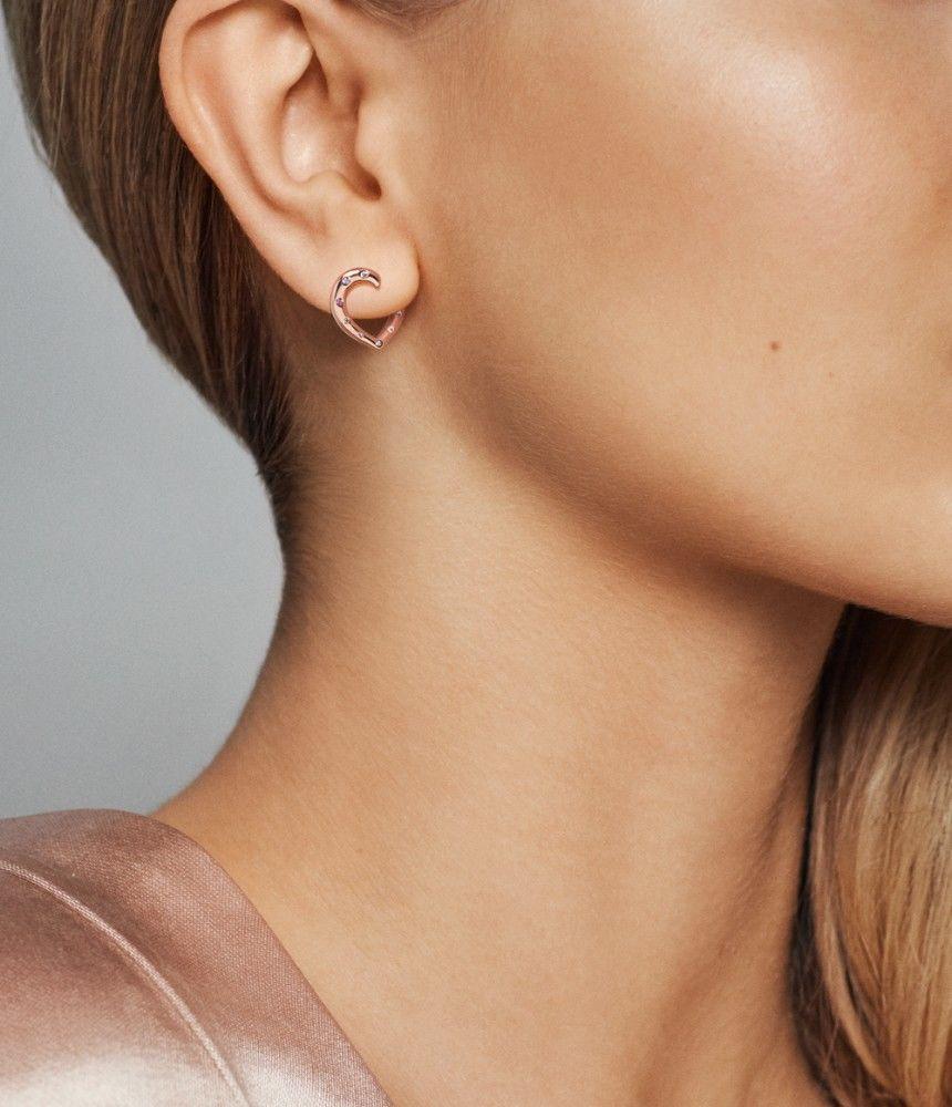 Heart Pandora Rose Hoop Earrings Pandora Rose No Other Material Pandora Earrings Stud Earrings Rose Earrings