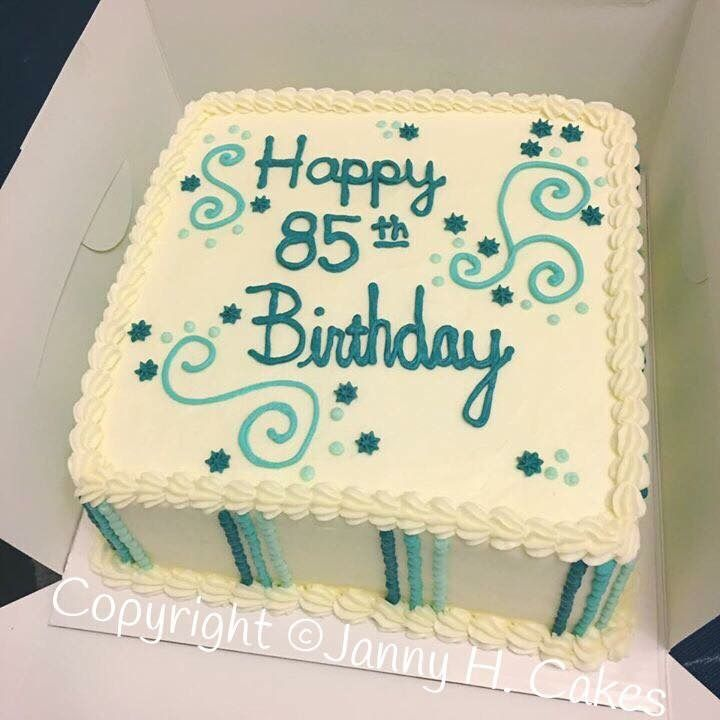 Older Person Cake Simple Cake 85th Birthday Cake With Images