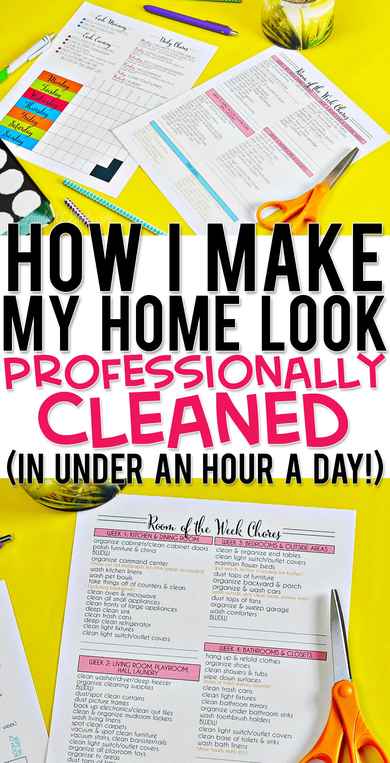 How I Make My Home Look Professionally Cleaned (in under an hour a day!) | Lamberts Lately