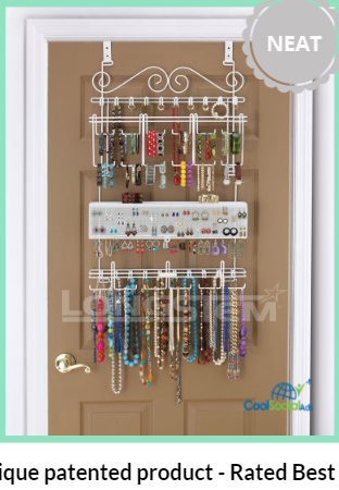 Overdoor/Wall Jewelry Organizer in White By Longst for more details visit http://coolsocialads.com/overdoor-wall-jewelry-organizer-in-white-by-longst-13324
