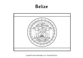 Belize Flag Printables Flag Coloring Pages Belize Flag