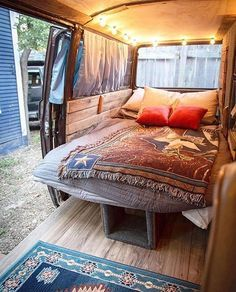 "Photo of Van Conversion Company on Instagram: ""The brisk morning temperatures of fall and winter are in full swing and an extra blanket at night is coming clutch ?❄️? @chewythevanagon"""