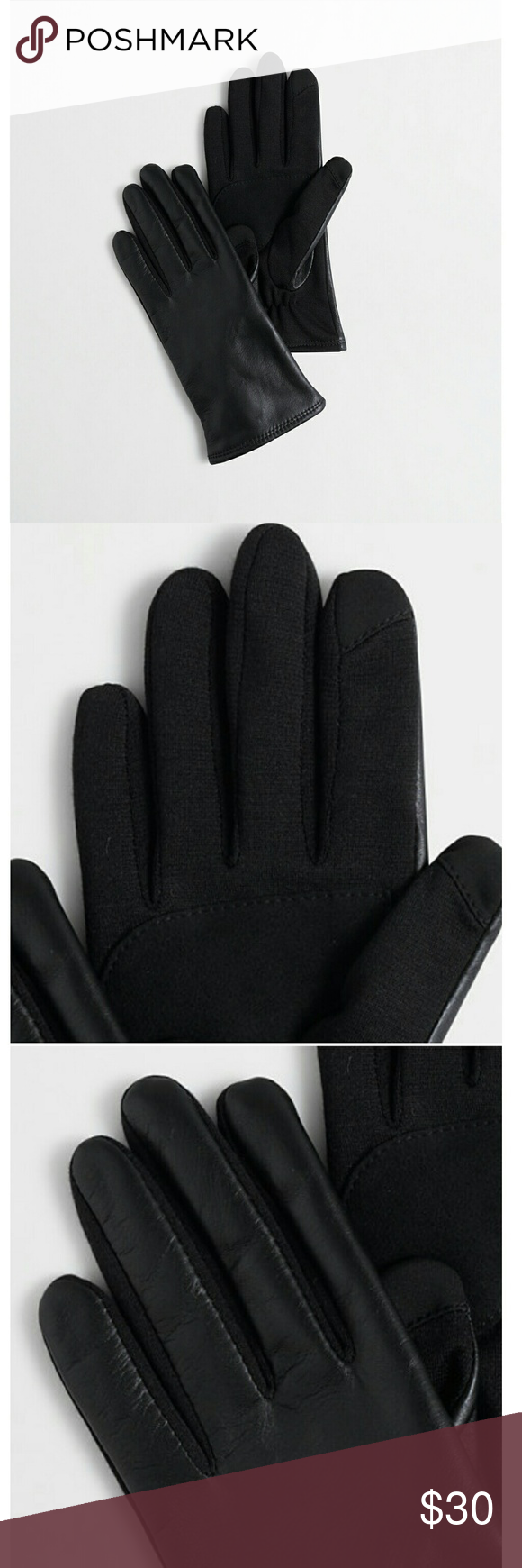 J. Crew Leather Tech Gloves Leather/metallized fiber tips. Acrylic lining. J. Crew Accessories Gloves & Mittens