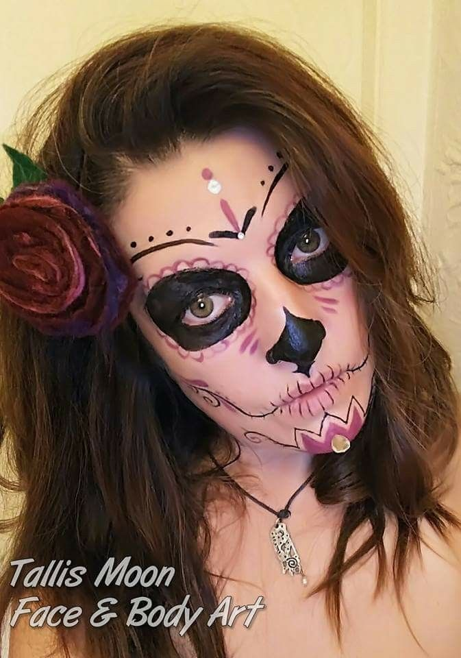 Pin by Lisa Kim Pirrone on Face paint and costume ideas Pinterest - face painting halloween ideas