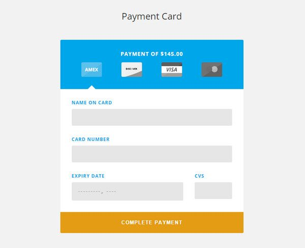 Payment Field Layout  Booking Form Inspiration