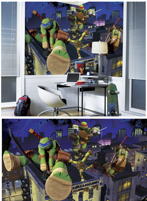 Teenage Mutant Ninja Turtle XL Wall Mural Wall Sticker Outlet - Ninja turtle wall decals