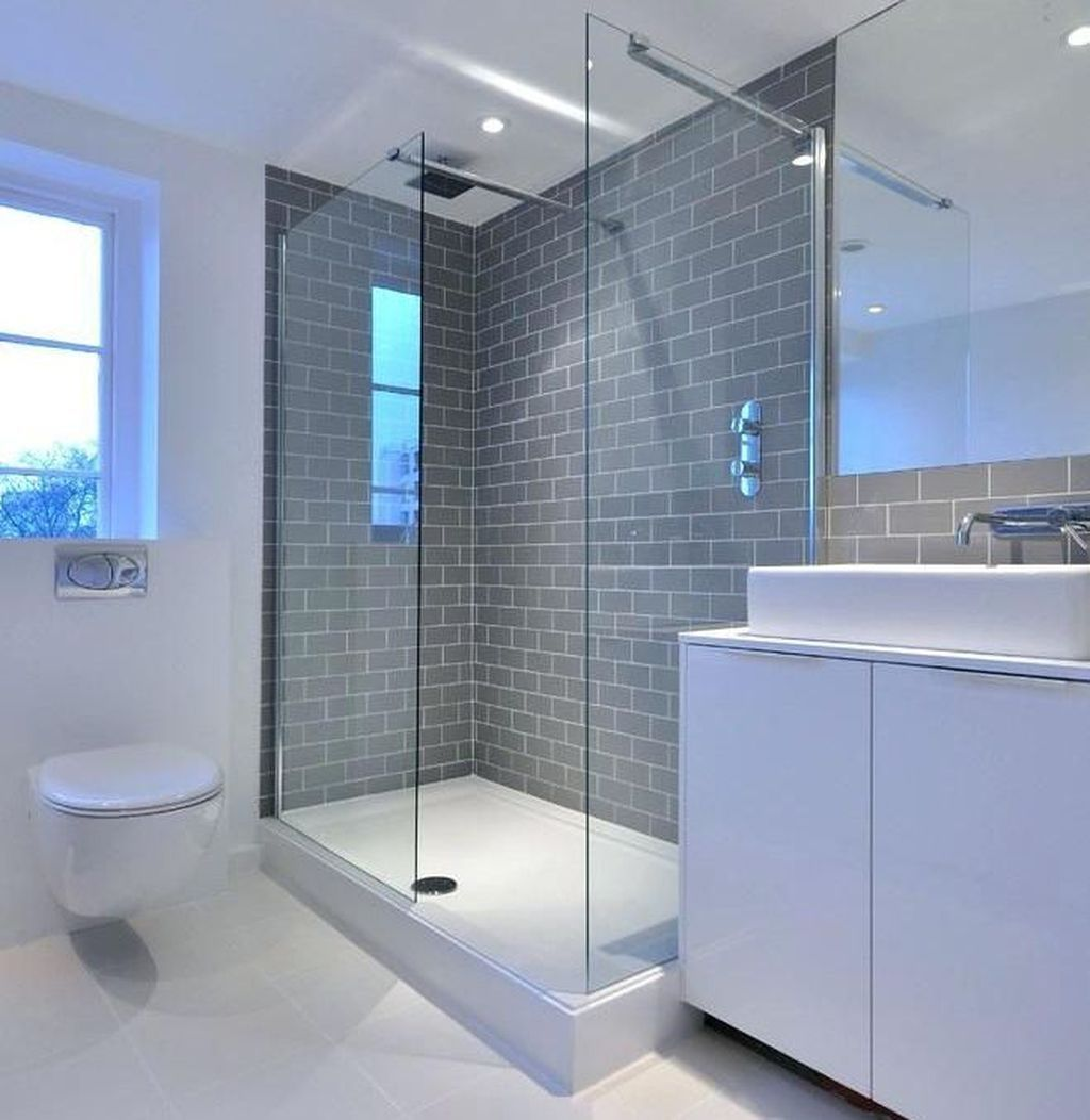 46 Adorable Modern Grey And White Bathroom Design Ideas White
