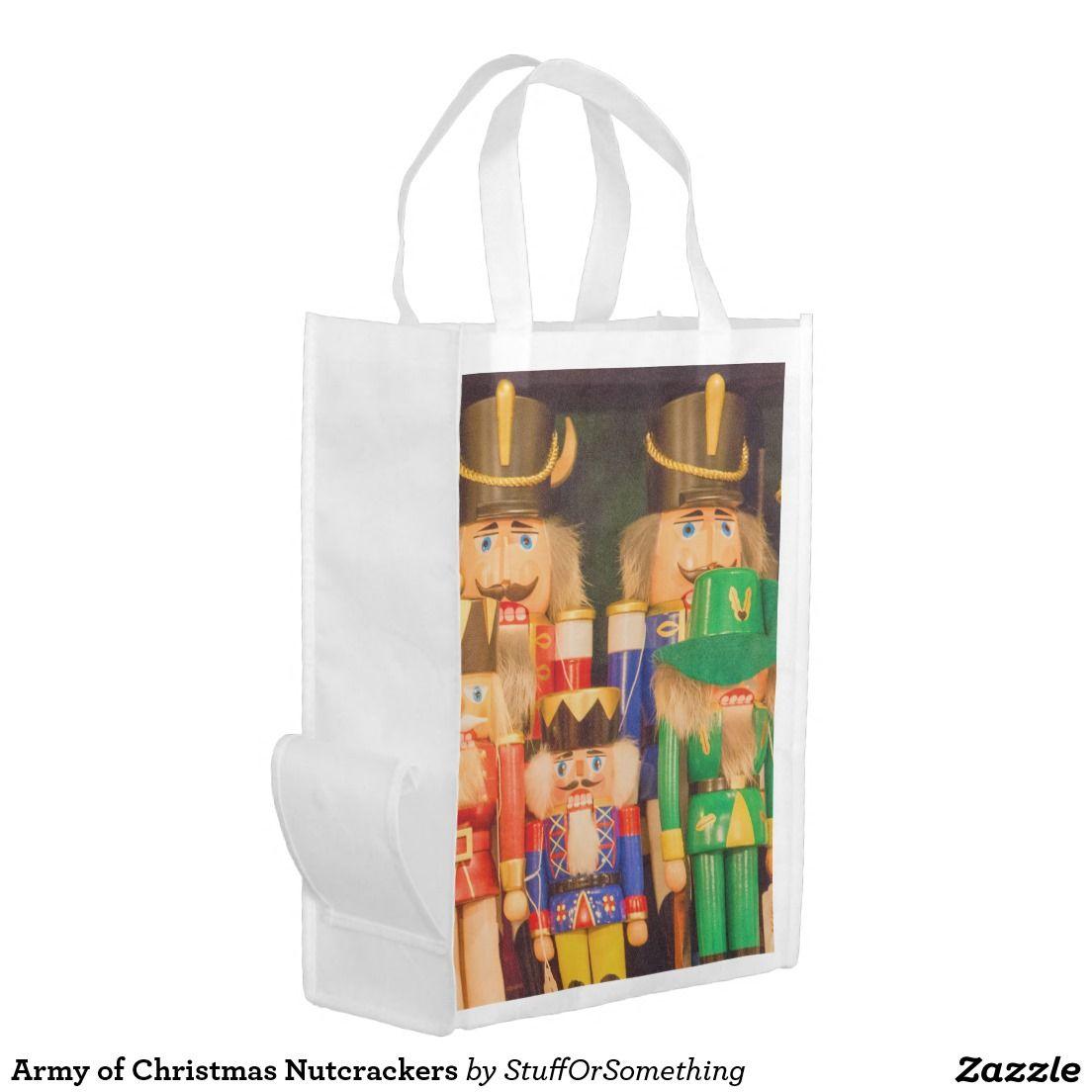 Army of Christmas Nutcrackers Grocery Bag