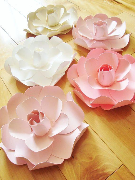 Gardenia Paper Flowers Baby Nursery Decor Wedding Flowers 5 Mini In 2020 Paper Flowers Baby Nursery Decor Flower Nursery