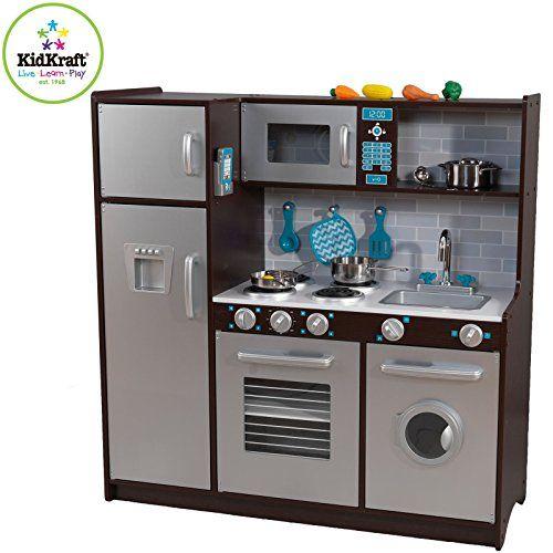 kidkraft modern midtown espresso kitchen httpwwwbestdealstoyscom kidkraft modern midtown espresso kitchen toys pinterest espresso kitchen - Kidkraft Espresso Kitchen