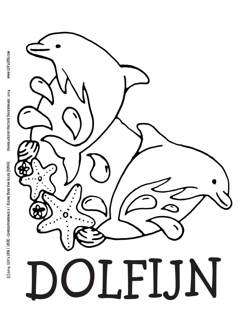 2 lrn printable page dolfijn like