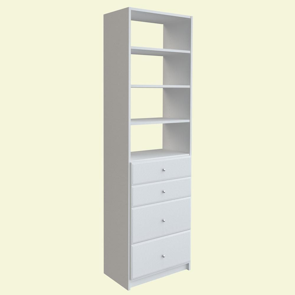 84 in. H x 24 in. W Coastal Haven Drawer and Shelving Tower Kit ...
