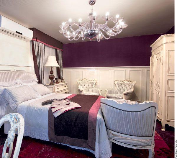 Classic purple bedroom Guest room Dream Home Bedroom Pinterest
