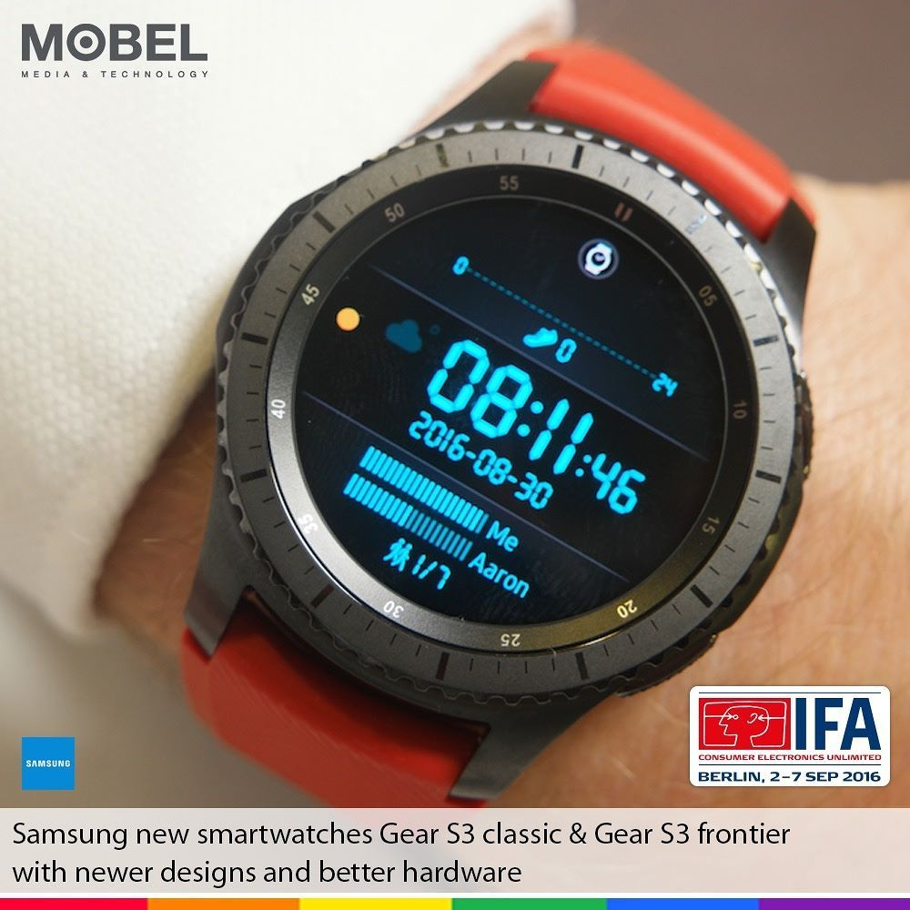 Samsung New Smartwatches Gear S3 Classic Gear S3 Frontier With Newer Designs Better Hardware Smart Watch Samsung Watches Gear S3 Frontier