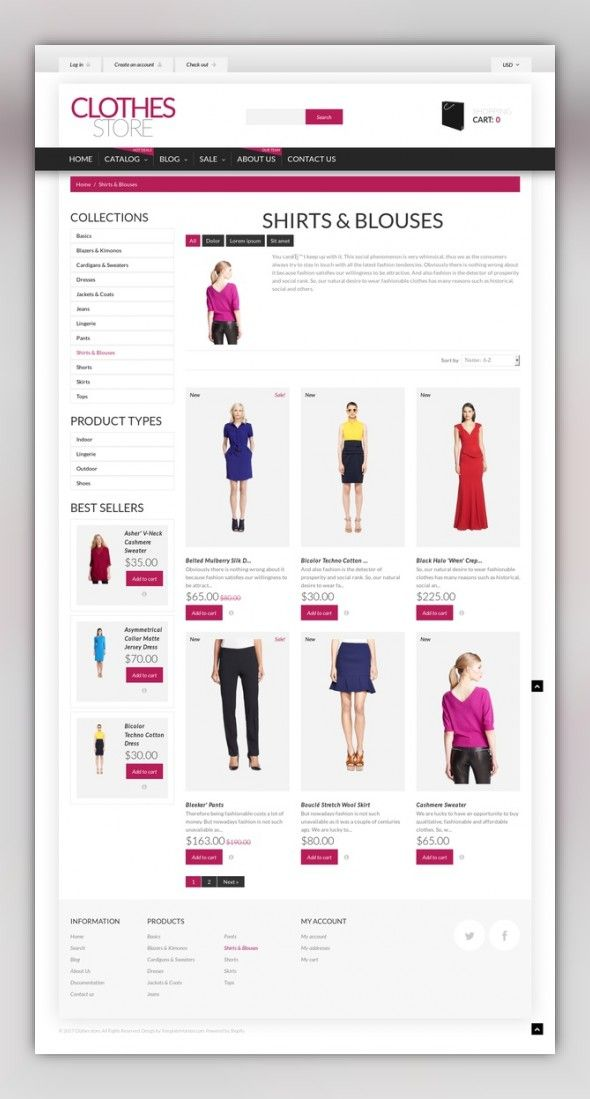Shopping in Style Shopify Theme | Pinterest | Fashion templates ...