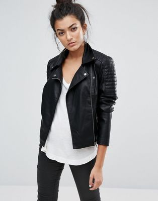 e3d366d11887 Noisy May faux leather jacket   Till They Make a Darker Color ...