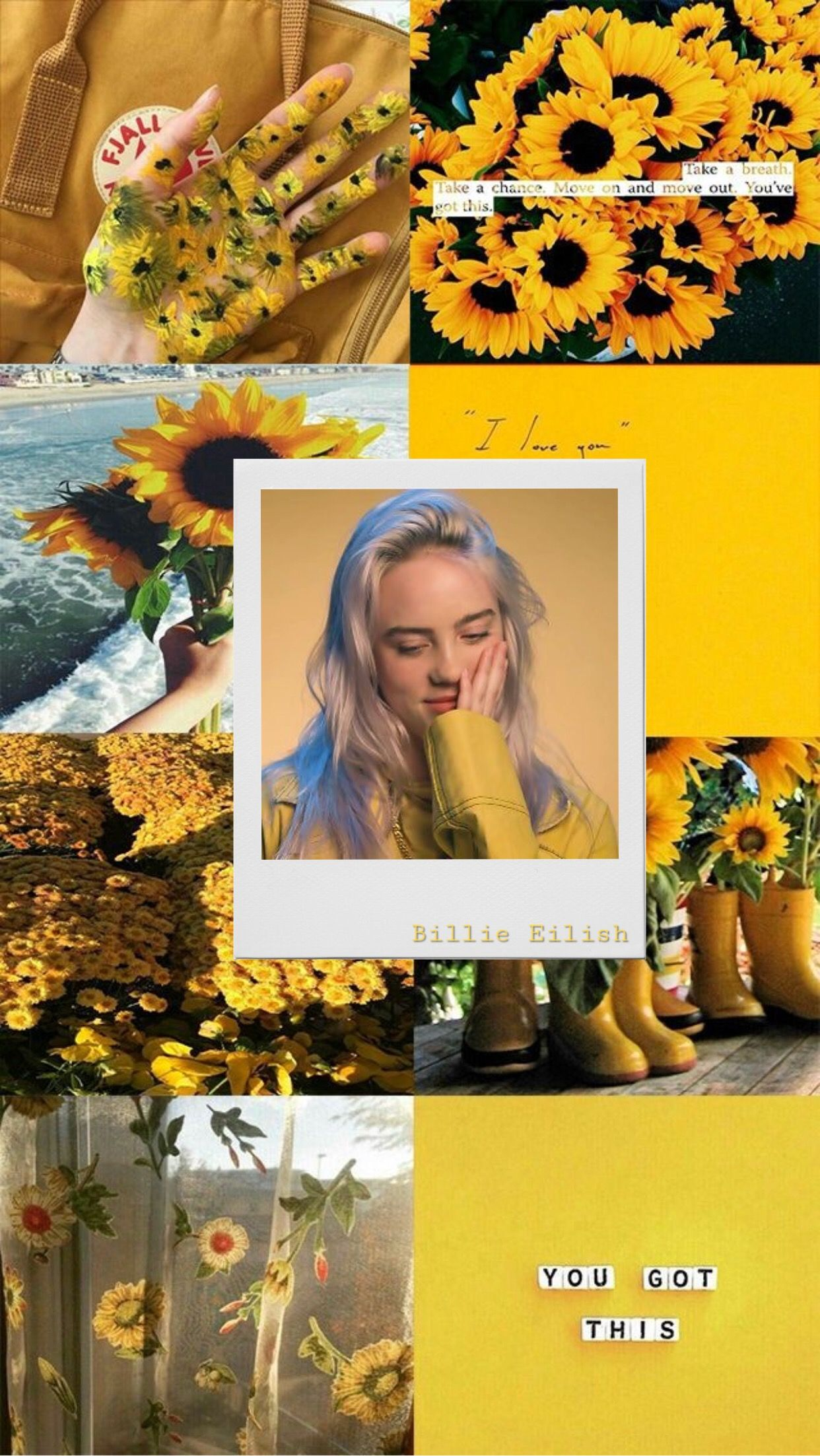Billie Eilish Sunflower Wallpaper 3d Android Wallpaper