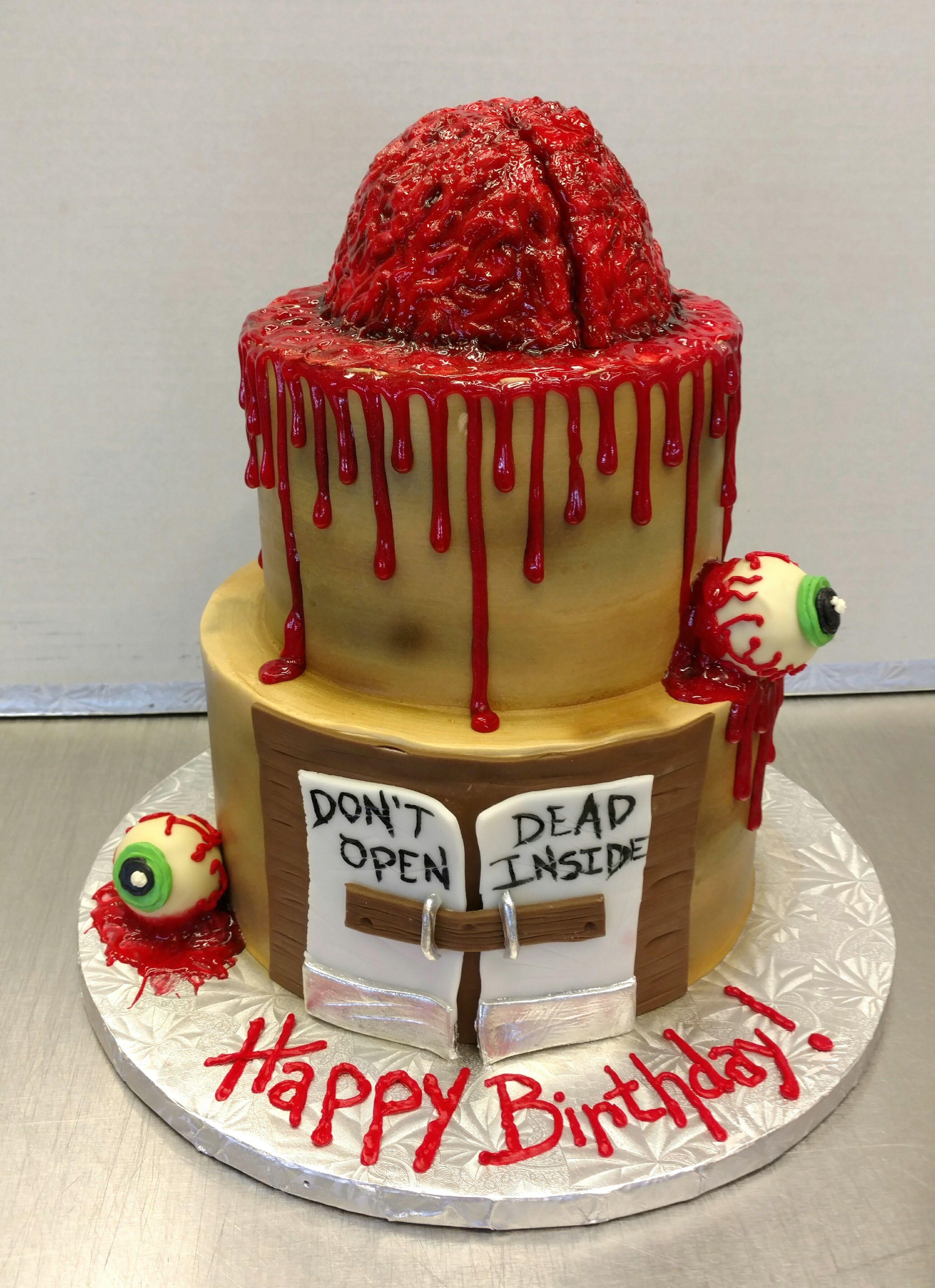 Fun October Birthday Specialty Zombie Cake Gourmet Custom Cakes