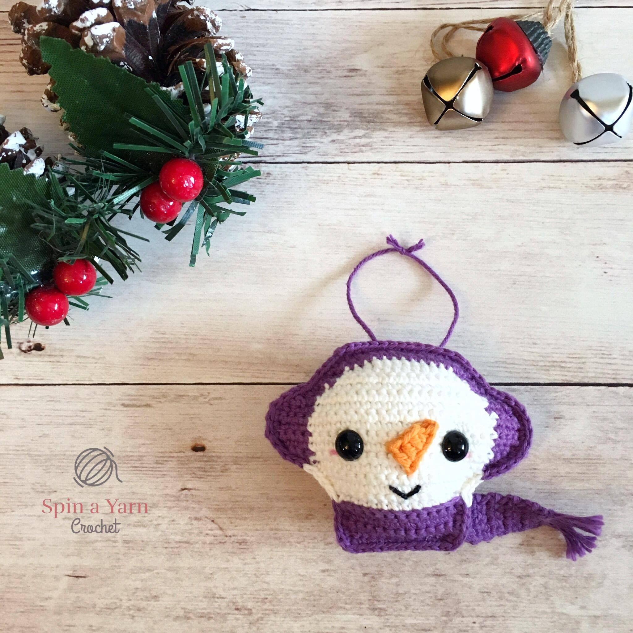 Snowman Ornament - Free Crochet Pattern at Spin a Yarn Crochet ...