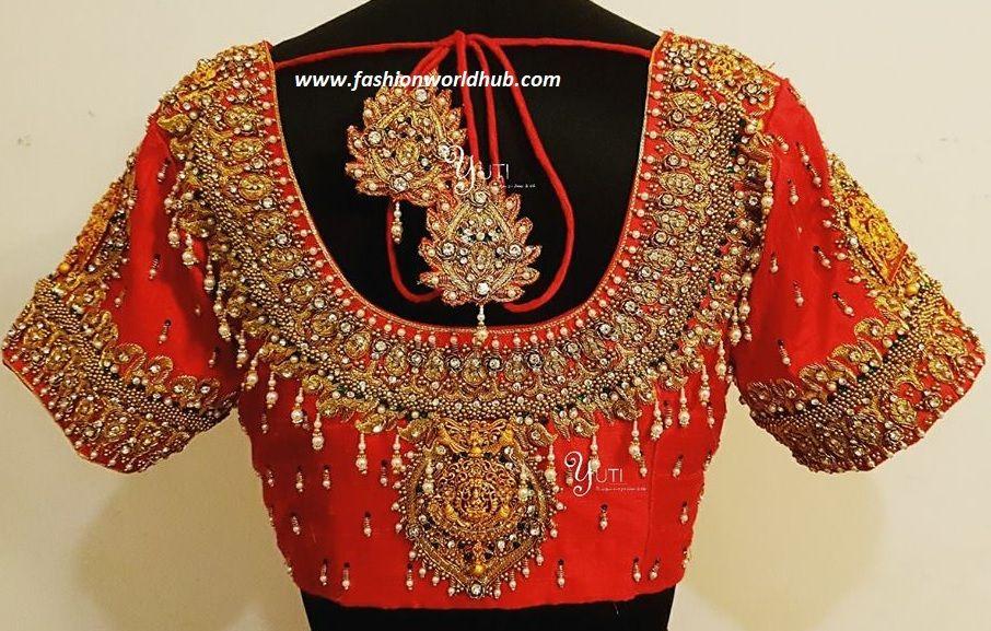 767c438cfa16a 2018 Latest Maggam work blouse designs