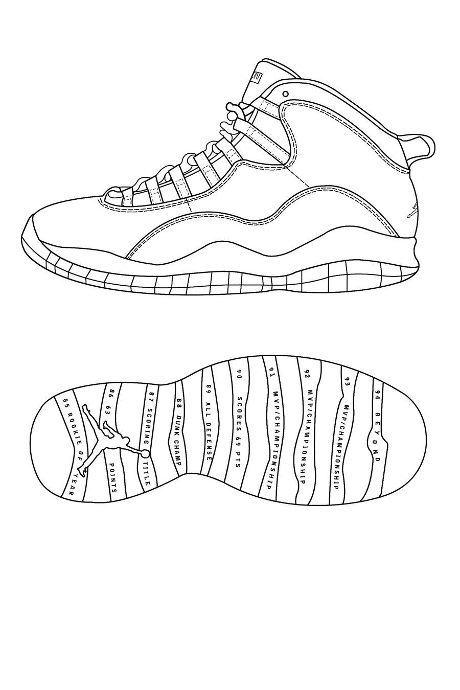 Coloring pages for jordans - Sneaker Design Lesson Plan Careers In The Arts