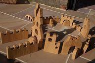Woodworks Kind Hausierer Holzschloss  Holzarbeiten    Spielzeug Selbstgemacht