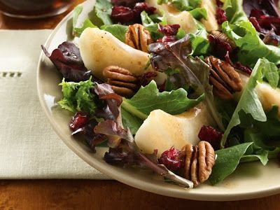 Pear and Green Salad with Maple Vinaigrette