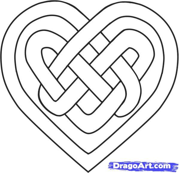 Draw A Celtic Heart Celtic Knot Celtic Designs Celtic Patterns