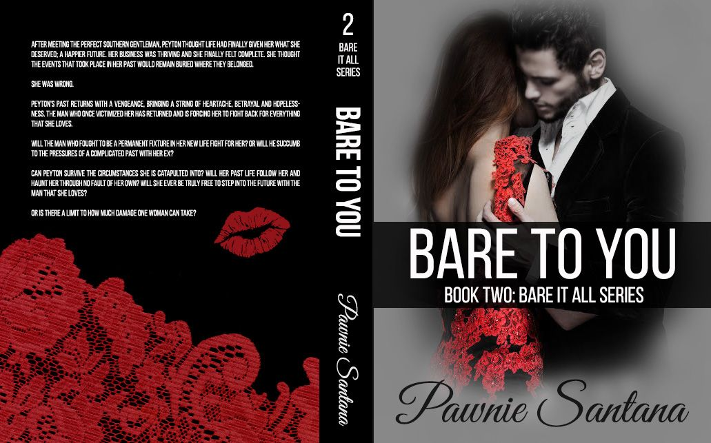Bare To You by Pawnie Santana, full wrap cover