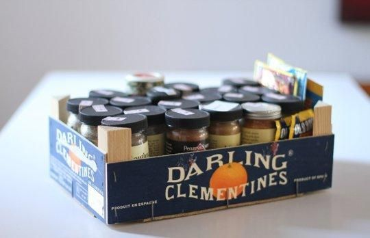 10 Ways to Reuse a Clementine Box Around the Kitchen is part of Spice Organization Rental - (Image credit The Bitten Word) Ah, clementines  We love their vibrant orange color and juicy sweetness  If you buy clementines in bulk this time of year, you may find you have a stack of wooden boxes piling up somewhere in your kitchen  Don't throw them away! These semisturdy containers can be repurposed around the kitchen