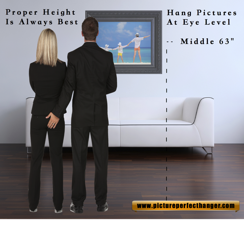Proper Height To Hang Picture Hanging Pictures Hanging Picture
