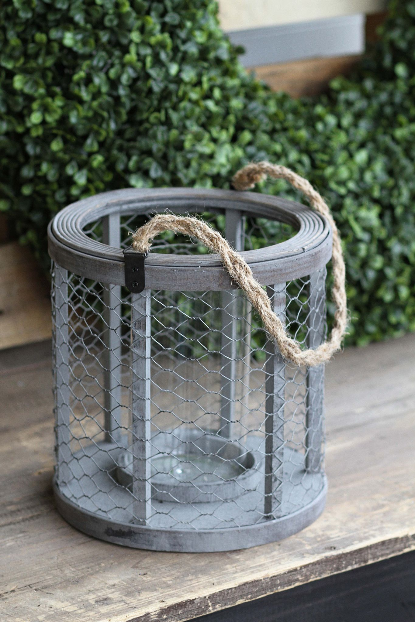 Chicken Wire Candle Holder with Rope Handle! | Daily Deals by Tai ...