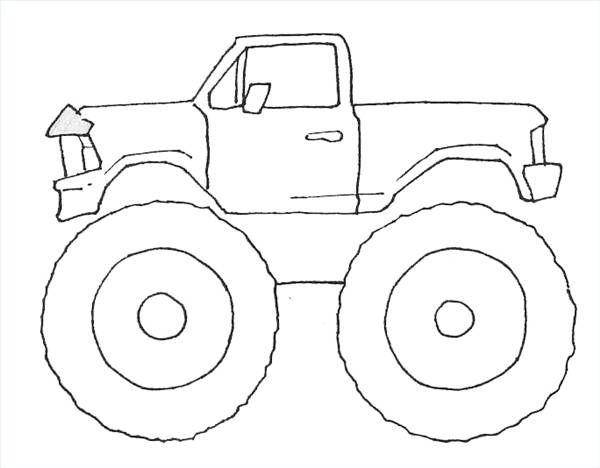 how to draw monster trucks - Monster Truck Coloring Pages Easy