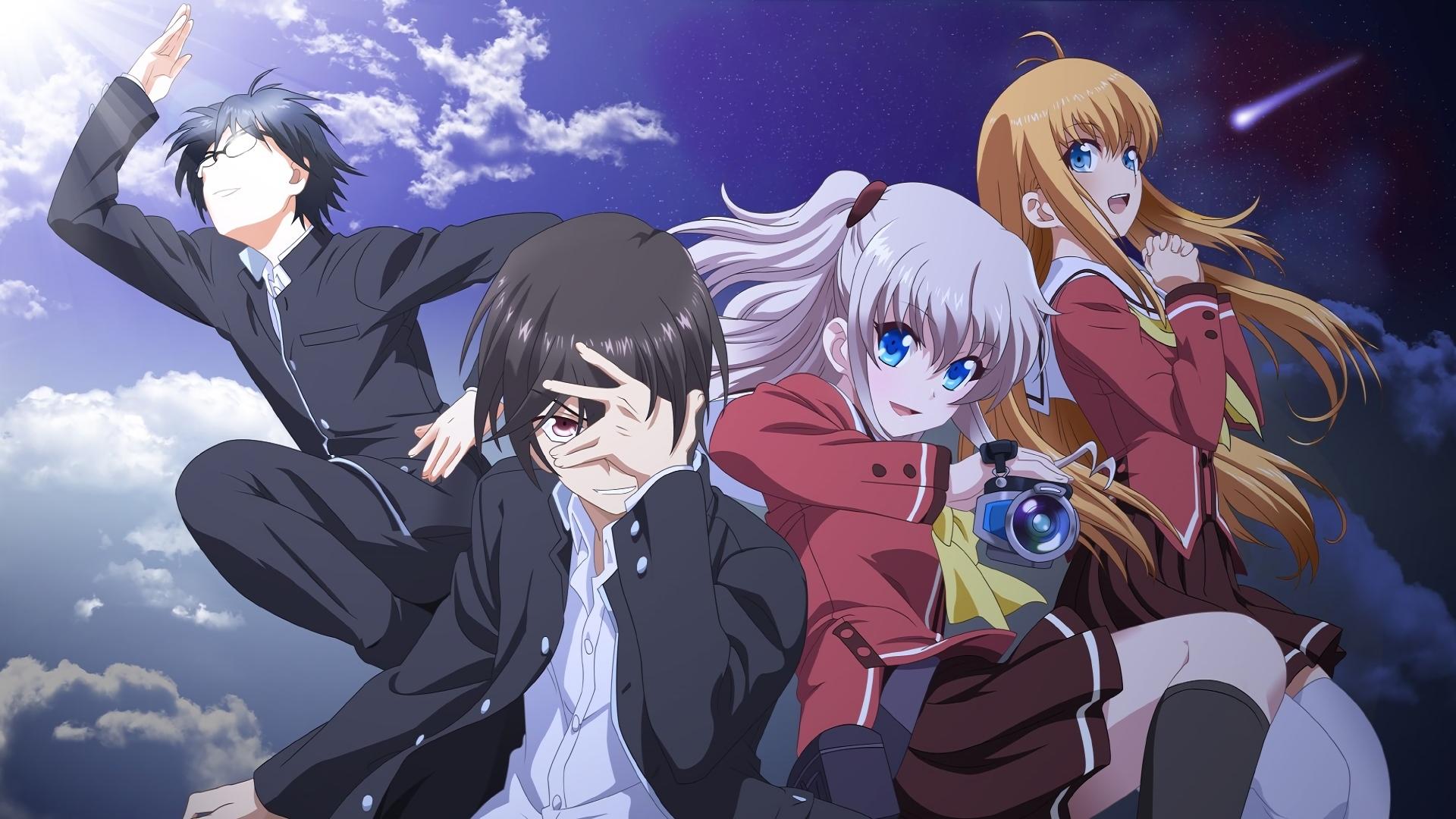 Anime Charlotte Nao Tomori Yū Otosaka Yusa Kurobane Joujirou Takajou Wallpaper
