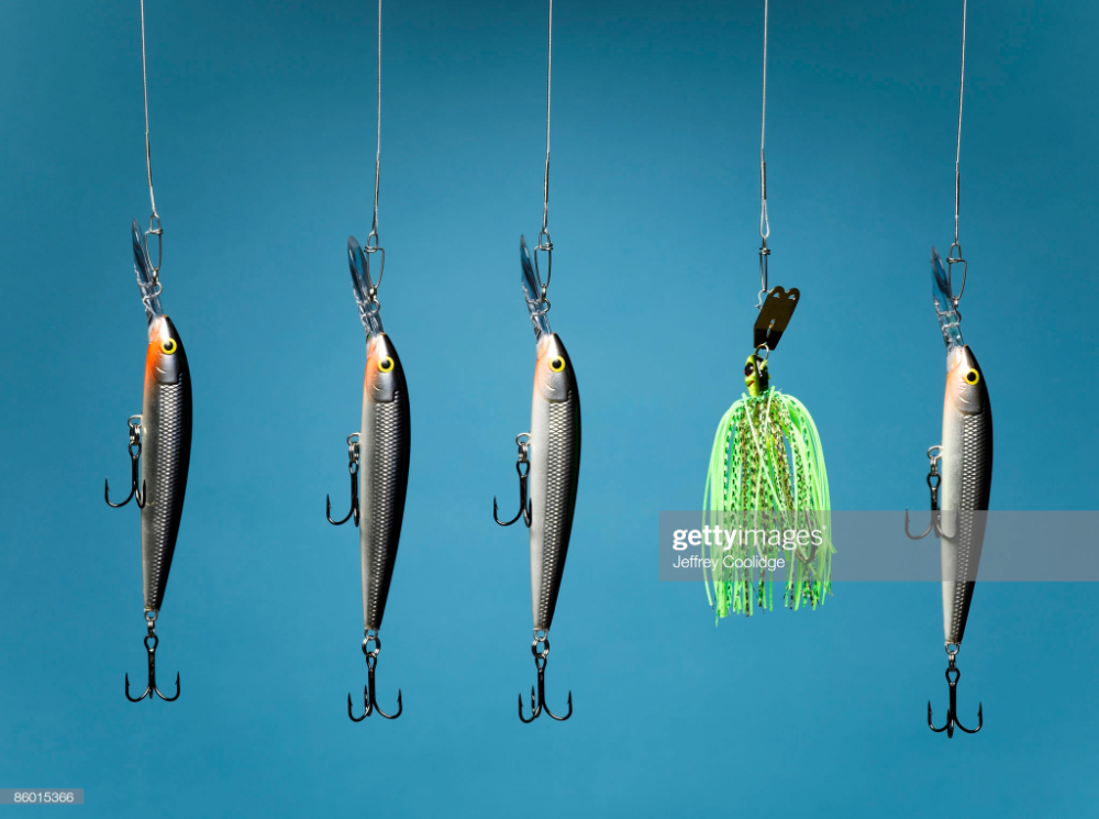 Five Fishing Lures Fishing lures, Stock photography