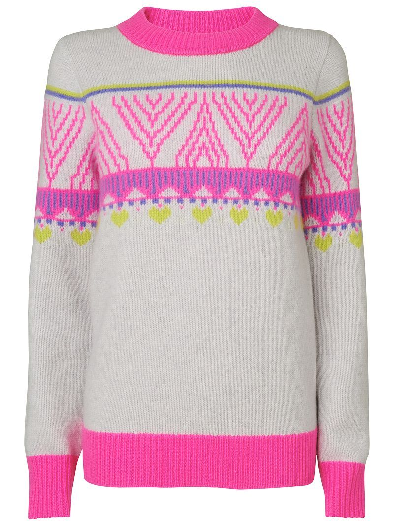 Boutique By Jaeger Fairisle Neon Sweater Knitwear Inspiration Neon Sweater Fashion