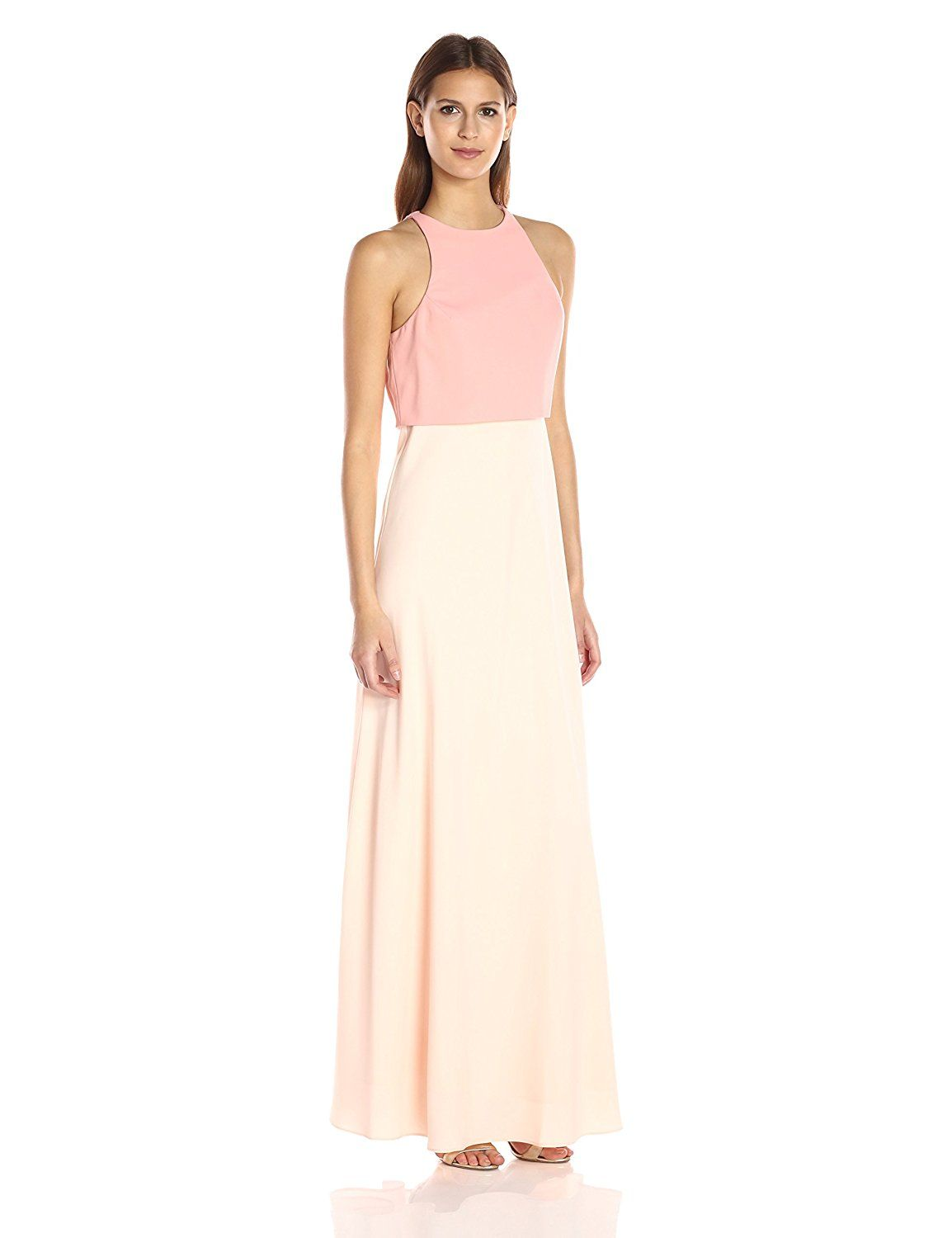 9f3fdcbc42b Amazon.com  Jill Jill Stuart Women s Popover Two-Tone Gown  Clothing ...