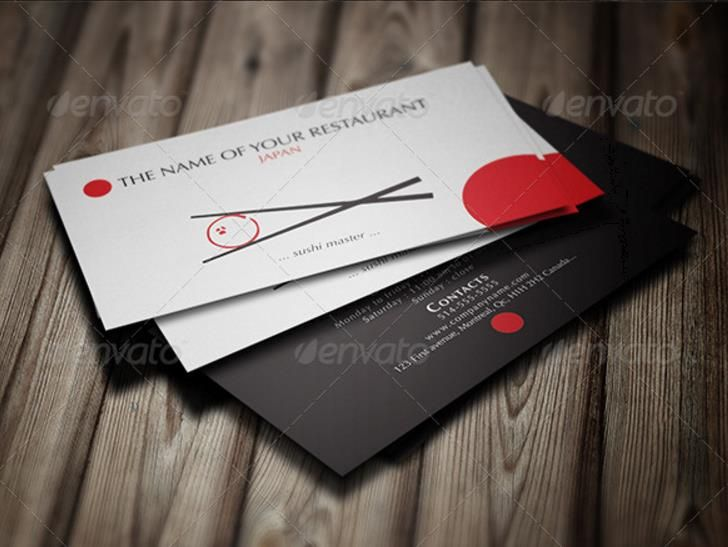 25 creative restaurant business card templates psdindesign