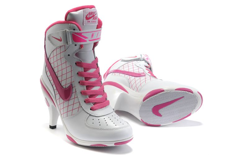 Nike White Pink Air Force 1 High Heels. When you're looking for a