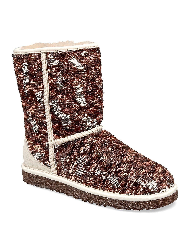 sparkle uggs ugg australia classic sparkles camo boots. Black Bedroom Furniture Sets. Home Design Ideas