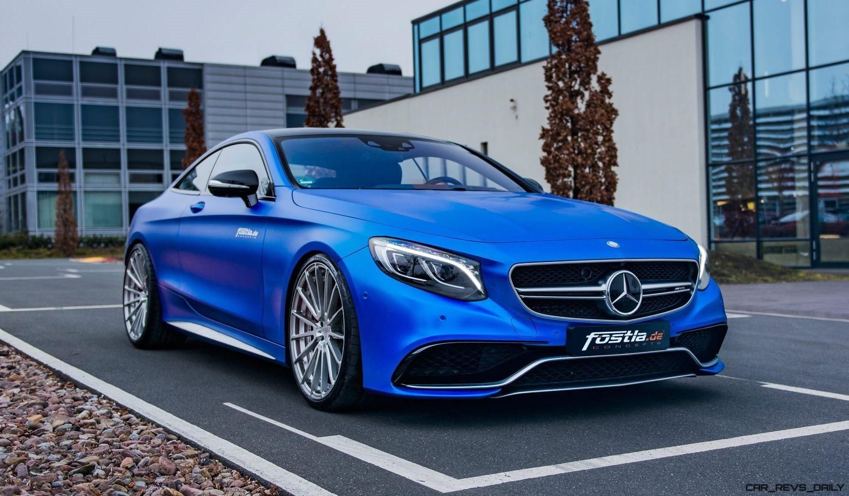 2017 Mercedes Amg S63 Coupe By Fostla De Is Dripping Blue Chrome