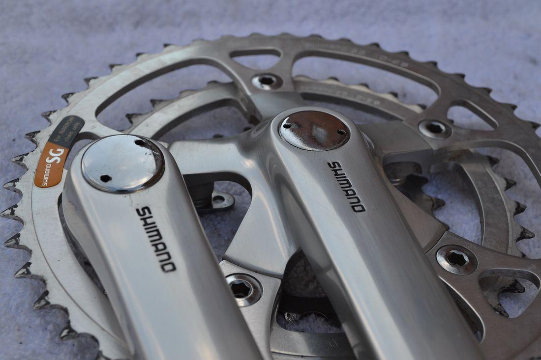 Shimano Deore XT M737 crank set retro mountain bike   Beautiful